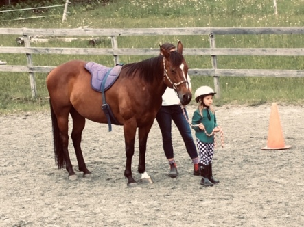 Chloe lesson with Sienna 2